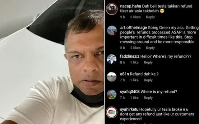 PANAS !!! Netizen mula tanya Tony mengenai 'refund ticket' selepas tayang kereta Tesla di IG