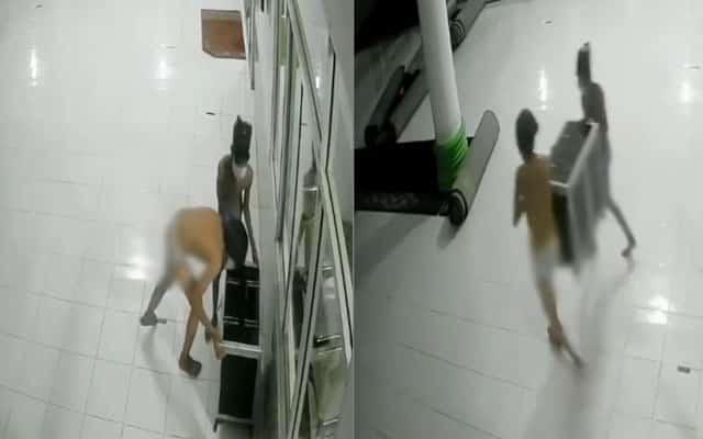 [VIDEO] Tular !!! 2 lelaki pakai 'spender' curi tabung masjid