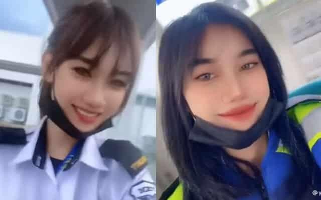 [VIDEO] Dikecam pakai baju pinjam, netizen terkejut wanita cantik ini kerja guard kilang di Selangor