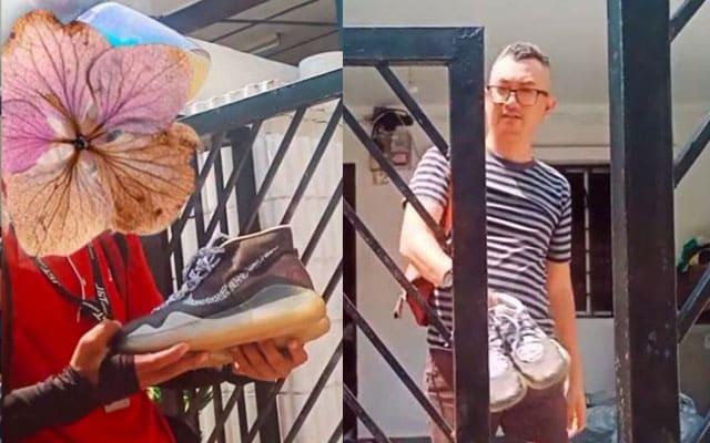 [VIDEO] Kasut rider penghantar barang lusuh, lelaki ini hadiahkan kasut