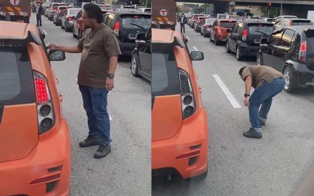 [VIDEO] Doktor gigi 'ajar' pemandu Myvi buang sampah dari tingkap