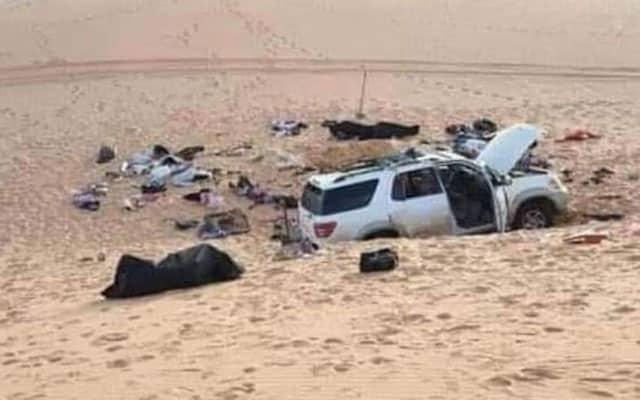Mesej selamat tinggal dari padang pasir