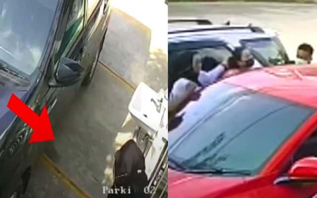 [VIDEO] Isteri tikam kekasih gelap suami di parking kereta